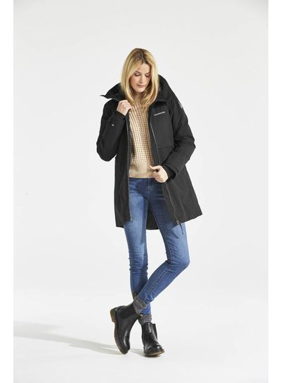 DIDRIKSONS 1913  Didriksons Helle Womens Parka - Black