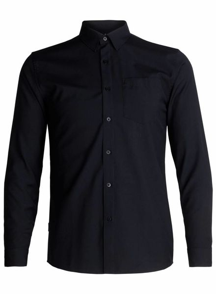 Icebreaker  ICEBREAKER Mens Depature  Long Sleeve Shirt - Black