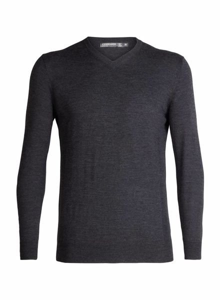 Icebreaker  ICEBREAKER Mens Shearer V Sweater - Charcoal