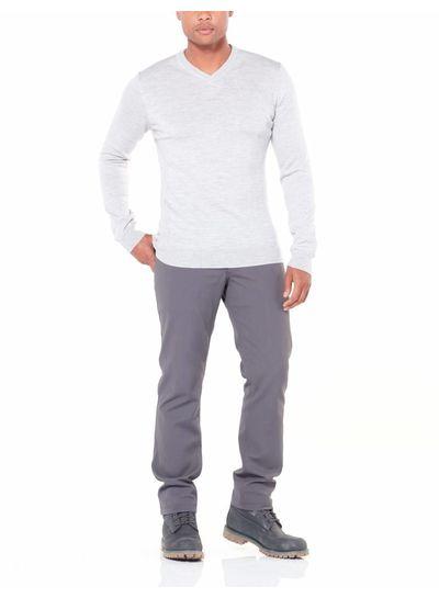 Icebreaker  ICEBREAKER Mens Shearer V Sweater - Charcoal