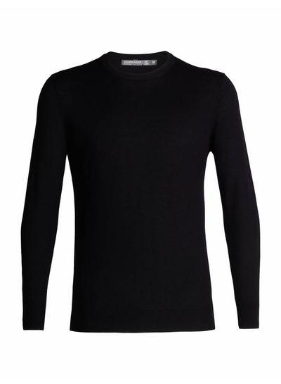 Icebreaker  ICEBREAKER Mens Shearer Crewe Sweater - Black