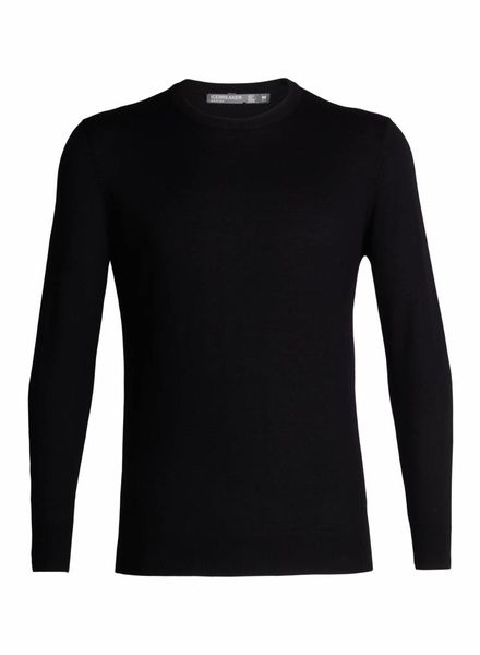 Icebreaker  ICEBREAKER Mens Shearer Crewe Sweater - Black