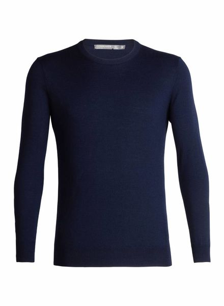 Icebreaker  ICEBREAKER Mens Shearer Crewe Sweater - Navy