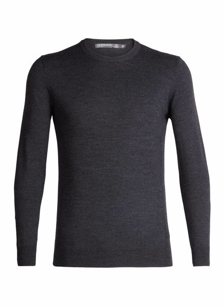 Icebreaker  ICEBREAKER Mens Shearer Crewe Sweater - Charcoal
