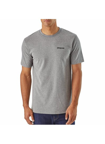 Patagonia  Patagonia Men's P-6 Logo Responsibili-Tee - Gravel Heather