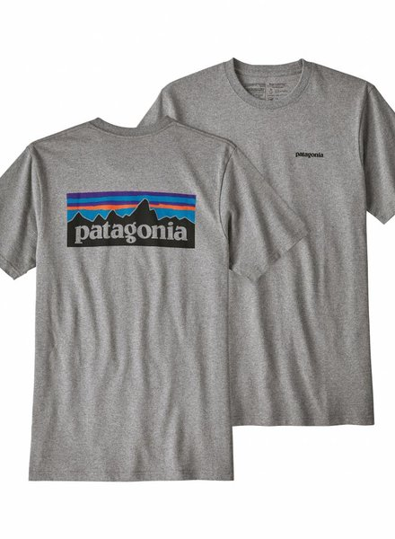 Patagonia  Patagonia Men's P-6 Logo Responsibili-Tee - Gravel Heather