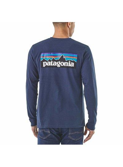 Patagonia  Patagonia L/S Men's P-6 Logo Responsibili-Tee - Classic Navy