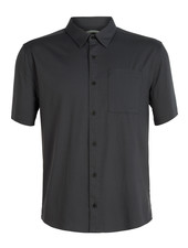 Icebreaker  ICEBREAKER Mens Compass Short Sleeve Shirt - Monsoon