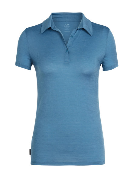 Icebreaker  ICEBREAKER Damen Tech Lite Short Sleeve Polo - Thunder