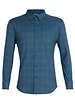 Icebreaker  ICEBREAKER Mens Compass Flannel Long Sleeve Shirt - Thunder