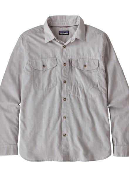 Patagonia  Patagonia Mens Long Sleeved Cayo Largo Shirt - Feather Grey