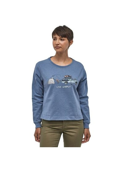Patagonia  Patagonia W's Live Simply Lounger Uprisal Crew Sweatshirt - Grey