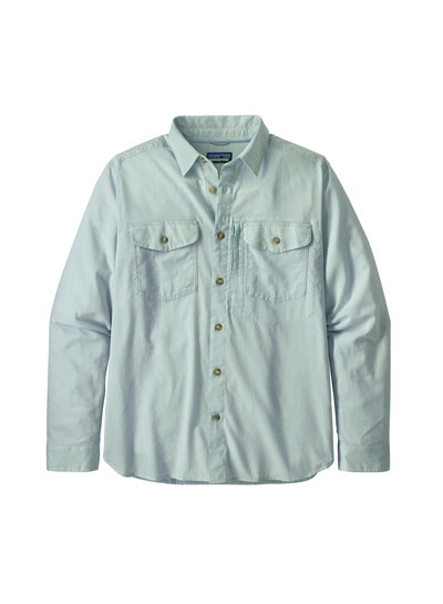 Patagonia  Patagonia Mens Long Sleeved Cayo Largo Shirt - Sky Blue