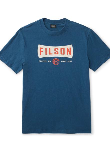 FILSON  FILSON Outfitter SS Graphic T- Shirt - Blue
