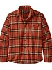 Patagonia  Patagonia Mens Light Weight Fjord Flannel Shirt - Hot Amber