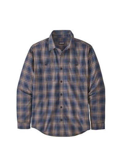 Patagonia  Patagonia Mens Long Sleeved Pima Cotton Shirt - New Navy