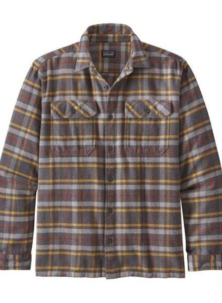 Patagonia  Patagonia Mens Fjord Flannel Shirt - Forge Grey