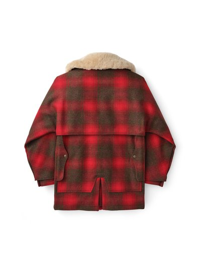 FILSON  FILSON Lined Wool Packer Coat - Red / Brown Plaid