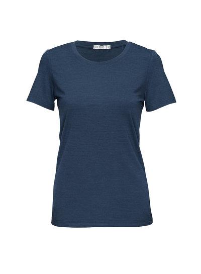 Palgero Palgero Birta Merino Shirt Damen - Blau Meliert