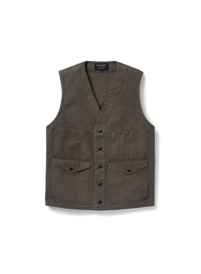 FILSON  FILSON Dry Tin Cloth Cruiser Vest - Stone Brown