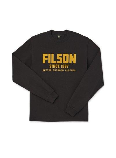 FILSON  FILSON LS Pioneer Graphic T - Shirt - Black