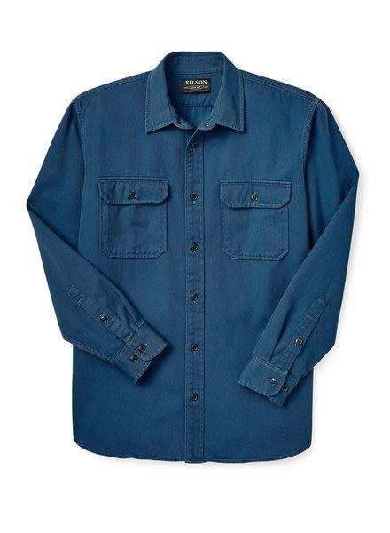 FILSON  FILSON Chino Twill  Shirt - Grouse Blue