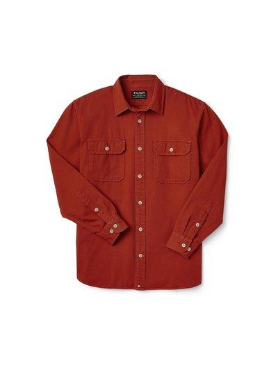 FILSON  FILSON Chino Twill  Shirt - Iron Rust