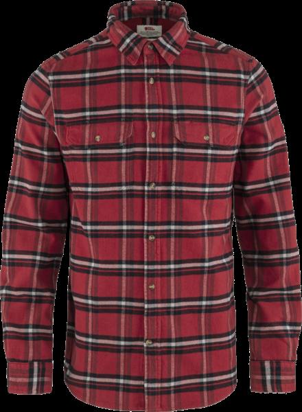 Fjällräven  FJÄLLRÄVEN Mens Övik Heavy Flannel Shirt -  Red