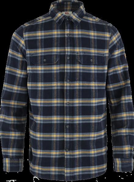 Fjällräven  FJÄLLRÄVEN Mens Övik Heavy Flannel Shirt -  Dark Navy