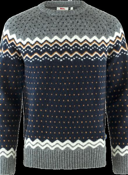 Fjällräven  FJÄLLRÄVEN Mens Övik Knit Sweater - Dark Navy