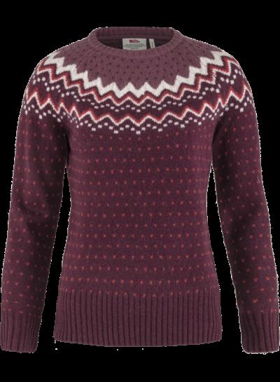 Fjällräven  FJÄLLRÄVEN Womens Övik Knit Sweater - Dark Garnet