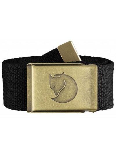 Fjällräven  FJÄLLRÄVEN Canvas Brass Belt - Black
