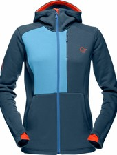 Norrona Norrona W's Narvik Warm 2 Stretch Zip Hood - Beyond Blue