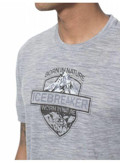 Icebreaker  ICEBREAKER M's Tech Lite SS Alpin Crest Merino - Fathom Heather