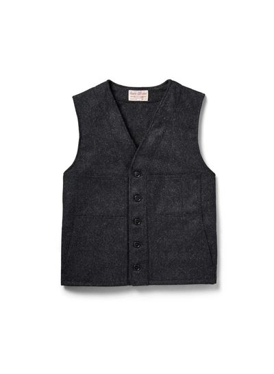 FILSON  FILSON Mackinaw Wool Vest - Charcoal