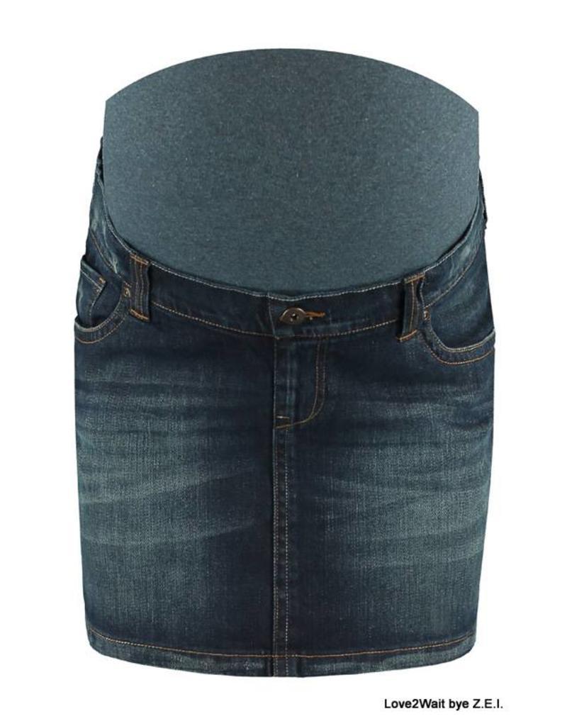Love2Wait Love2Wait spijkerrok Dark wash B999004 022