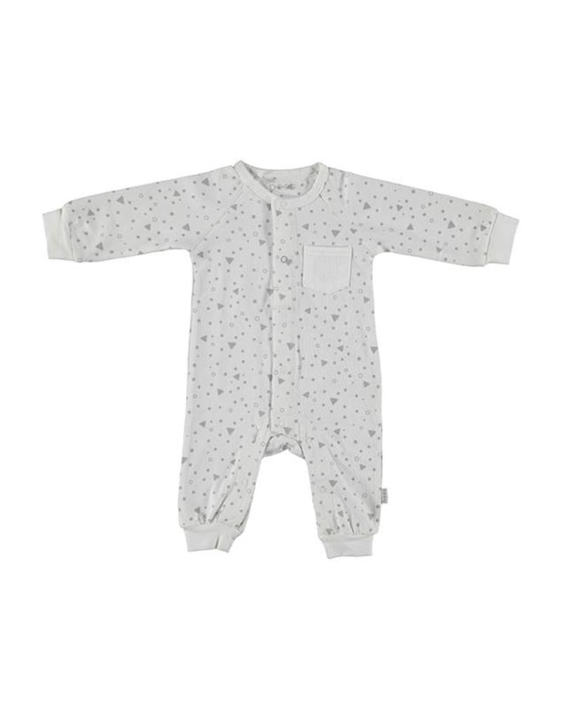 B.E.S.S. Baby Newborn Bess Baby Boxpakje Suit Triangle Wit BS1027-001