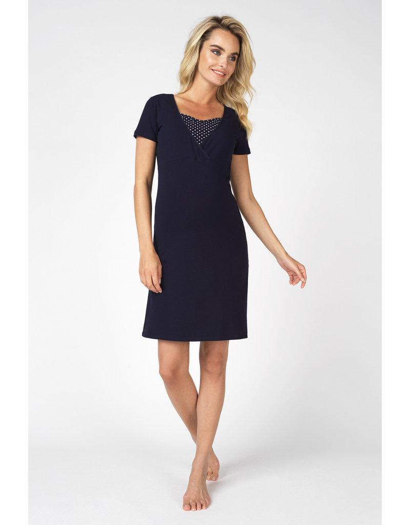 designer fashion 5db8d 878c3 Noppies Noppies voedings pyjama Suzy donker blauw 90N4415