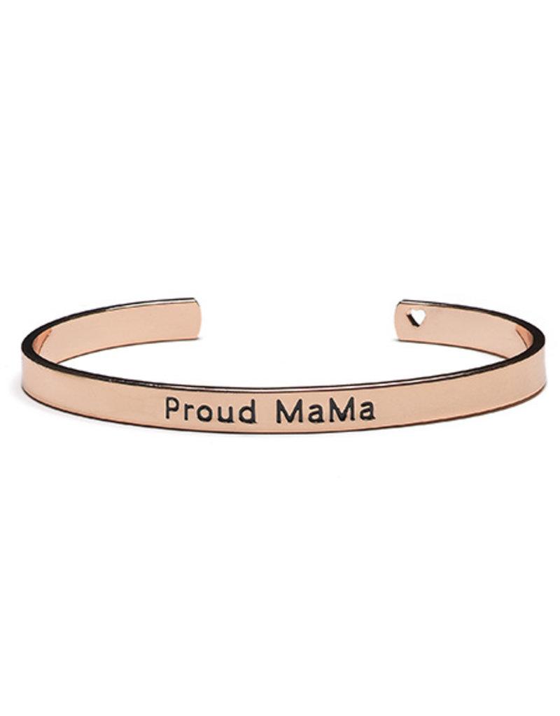 Proud Mama Proud Mama Bangle Bracelet Roze