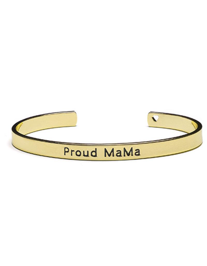 Proud Mama Proud Mama Bangle Bracelet Goud kleurig