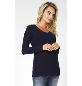 Noppies Noppies Shirt LS ronde hals Berlin Night blauw