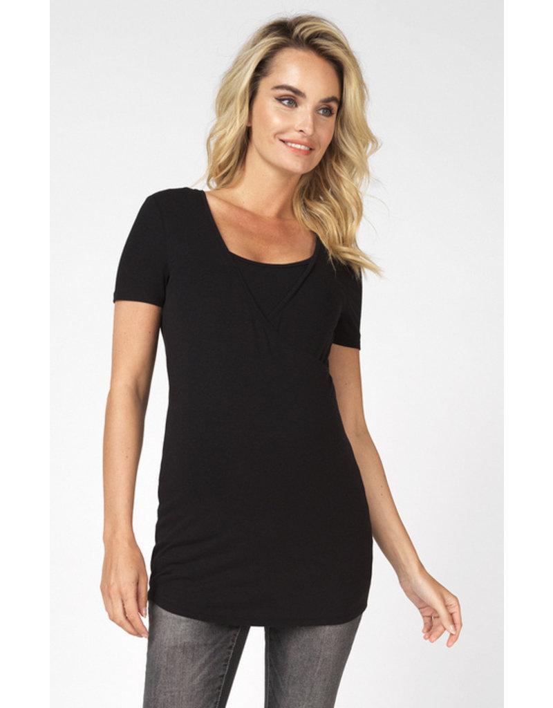 Noppies Noppies Shirt met voedingsfunctie Rome zwart 90N0016 P090