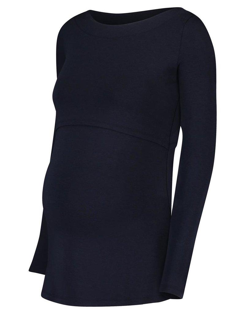 Noppies Noppies Shirt Dane met voedingsfunctie zwart 66630 C165