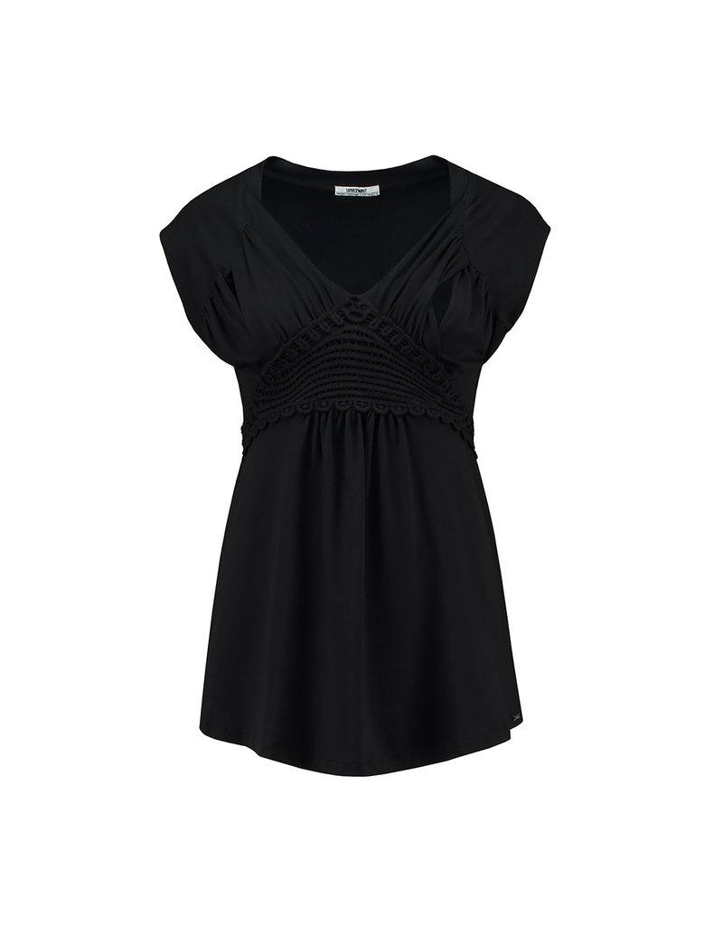 Love2Wait Love2Wait Shirt met nursing tencel zwart B999102 004