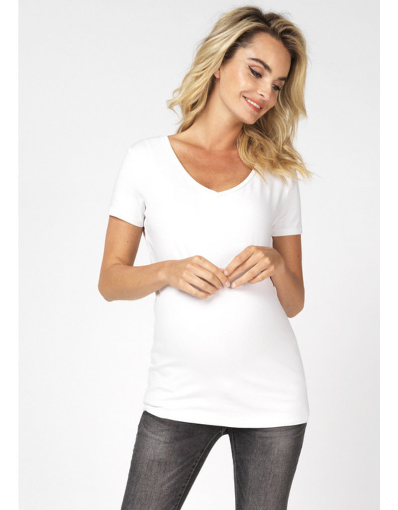 Noppies Noppies Shirt V-hals Rome wit 90N0014 P175