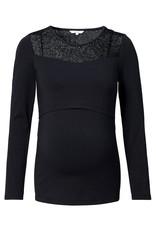 Noppies Noppies shirt met voedingsfunctie black Corley 20090012 P090