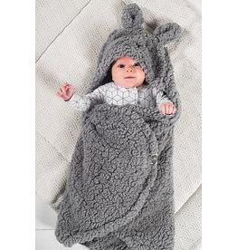 Jollein Jollein Wikkeldeken fluffy Bunny Wrap grijs