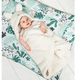 Jollein Jollein Wikkeldeken fluffy Bunny Wrap wit