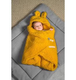 Jollein Jollein Wikkeldeken fluffy Bunny Wrap oker geel