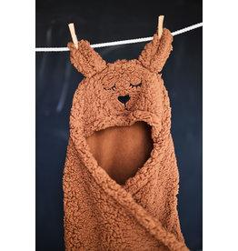 Jollein Jollein Wikkeldeken fluffy Bunny Wrap bruin